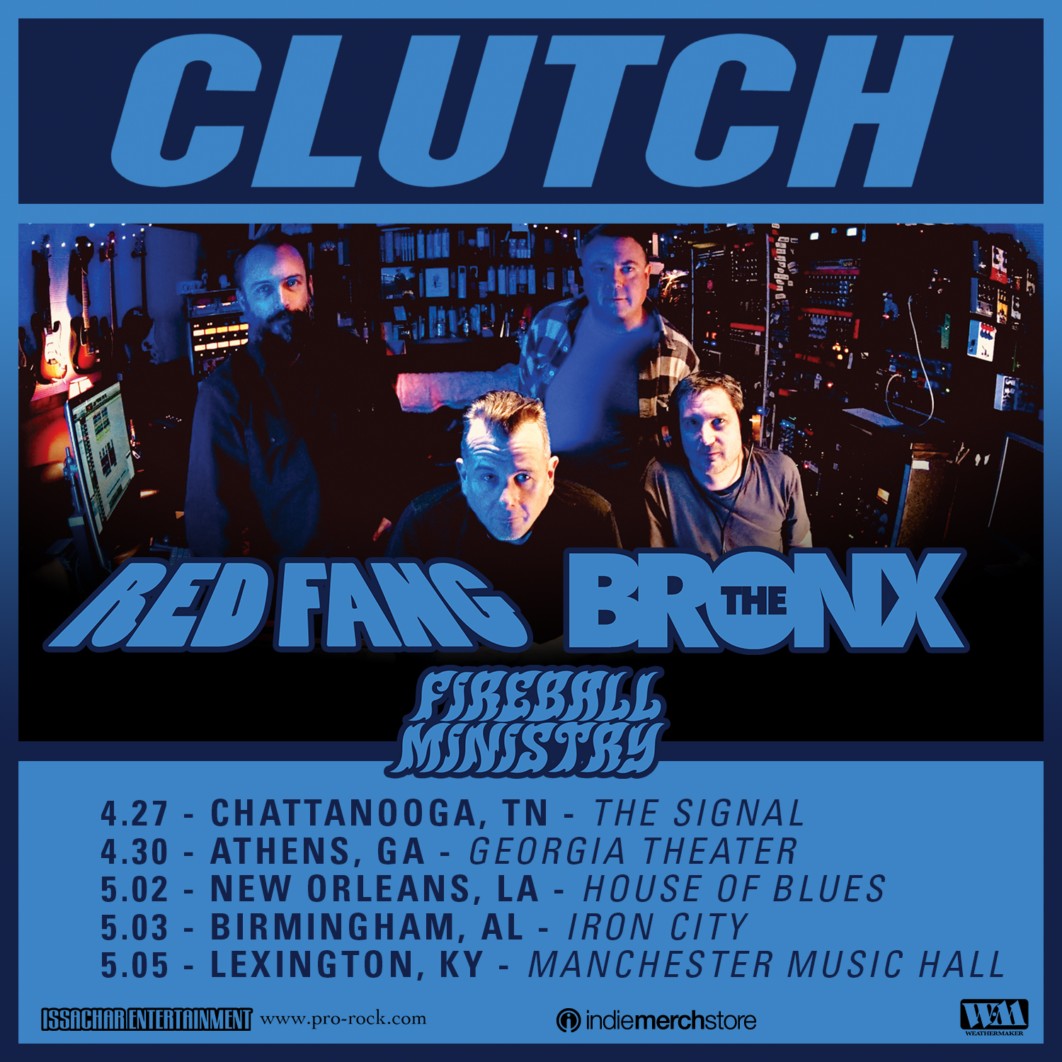 Fireball Ministry tour with Clutch, Red Fang , The Bronx