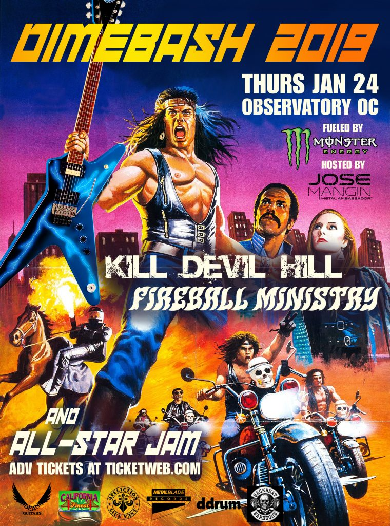 Dimebash 2019 Jan 24 at Observatory OC with Fireball Ministry and Kill Devil Hill plus All-Star Jam